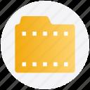 film, films folder, folder, media, movie, video icon