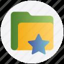category, favorite, folder, star, storage icon