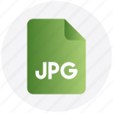 document, file, image, jpg, jpg file icon