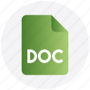 doc, document, file, page, paper icon