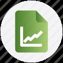 category, diagram, document, file, graph, graph paper icon