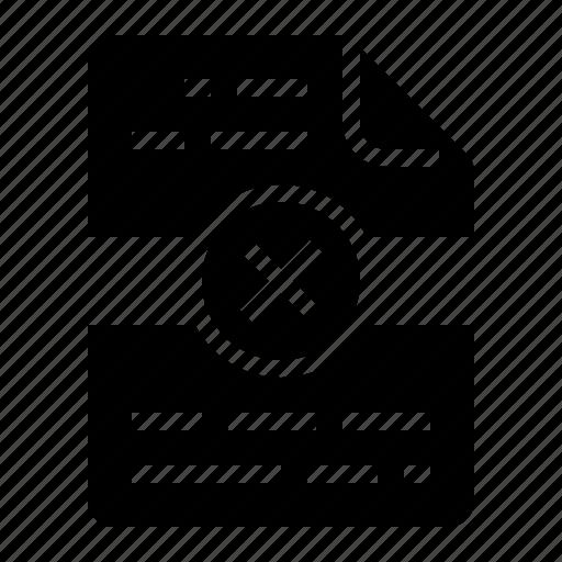 broken, error, failure, file icon
