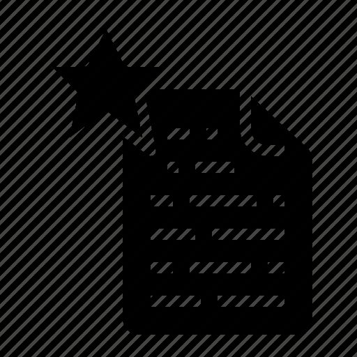data, favourite, file, list, reward icon