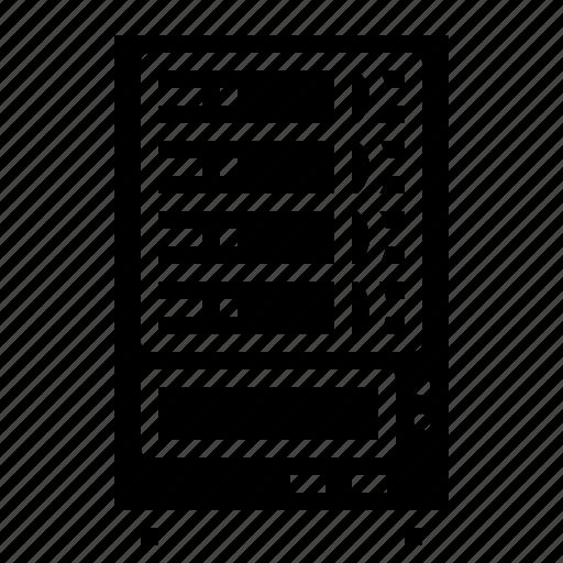 computer, data, file, server, storage icon