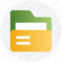 archive, documents, folder, folder open, office, storage icon