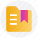 bookmark, favorite, folder, label, ribbon, tag icon