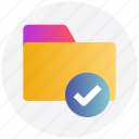 archive, check, check folder, file, folder, good