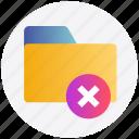 close, cross, delete, delete folder, folder, remove icon