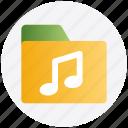 directory, media, music, music folder, songs icon