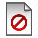 denied, document, file, page, paper icon