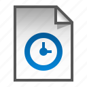 document, file, page, paper, watch icon