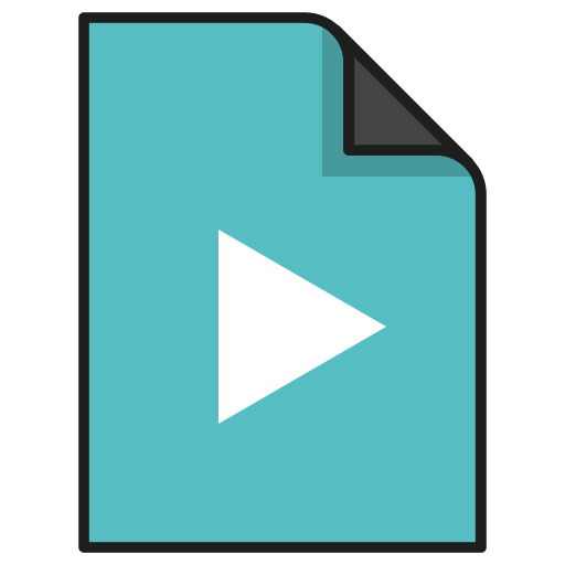 audio, documents, file, media, movie video, music, player icon
