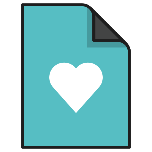 documents, favorite, file, heart, like, love icon