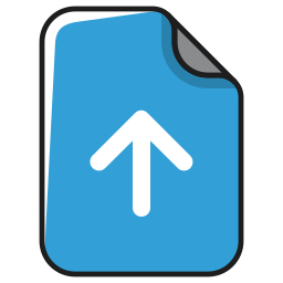 arrow, documents, extension, file, up, upload, uploading icon