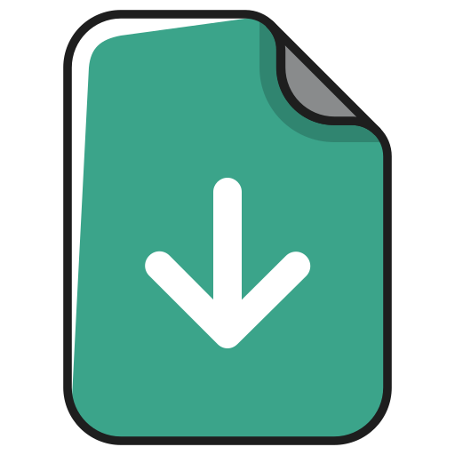 arrow, documents, down, download, file, guardar, install, save icon