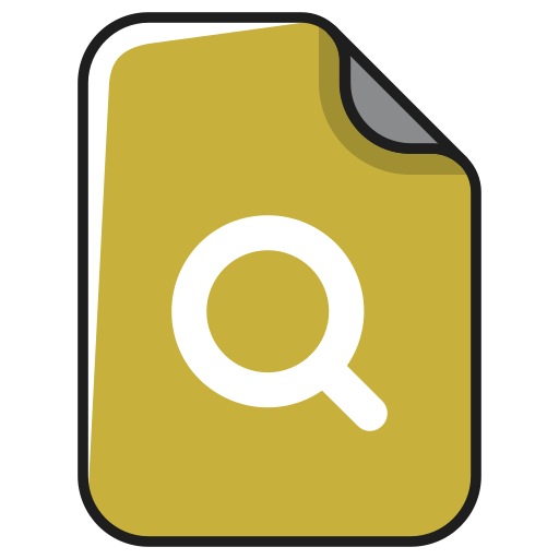documents, file, find, magnifying, search, search file icon