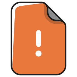documents, error, exclamation, file, mark, page, warning icon