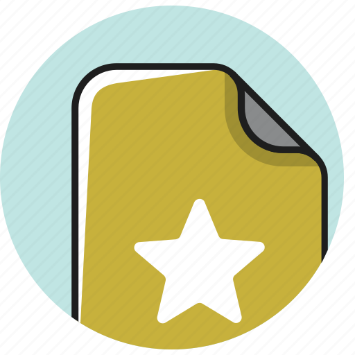 award, bookmark, documents, favorite, file, rating, star icon
