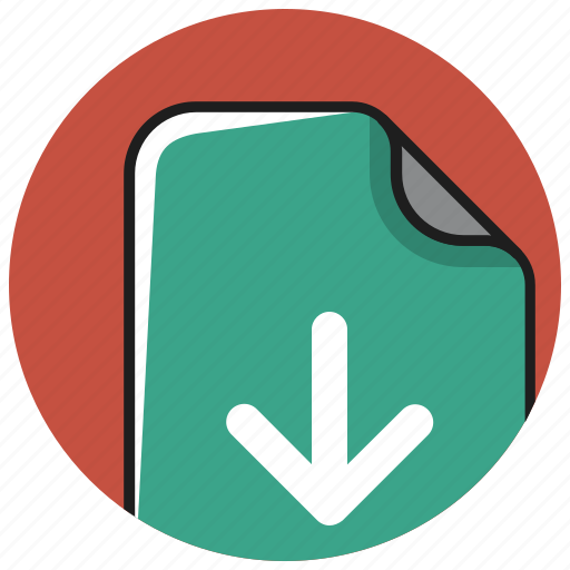 arrow, documents, down, download, file, install, save icon