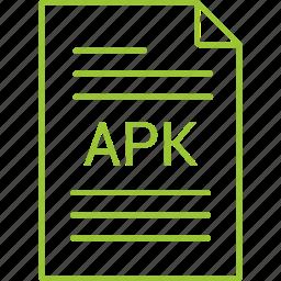apk, extension, file icon