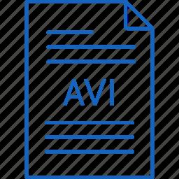avi, extension, file icon