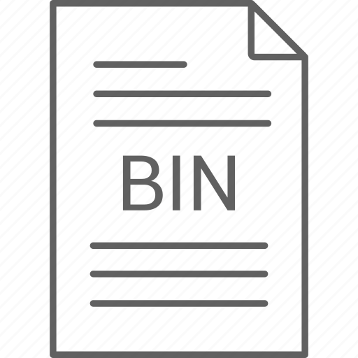 bin, extension, file icon