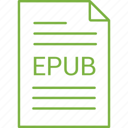epub, extension, file icon