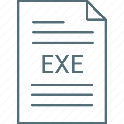 exe, extension, file icon