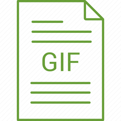 extension, file, gif icon