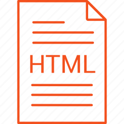 extension, file, html icon