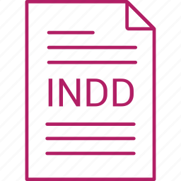 extension, file, indd icon