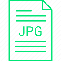 extension, file, jpg icon