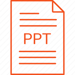 extension, file, ppt icon