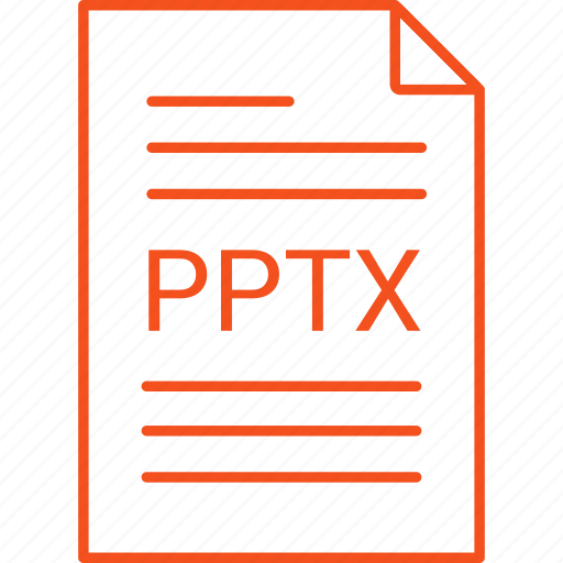 extension, file, pptx icon