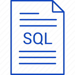 extension, file, sql icon
