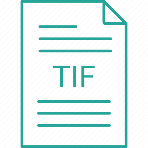 extension, file, tif icon