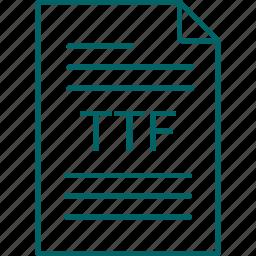 extension, file, ttf icon