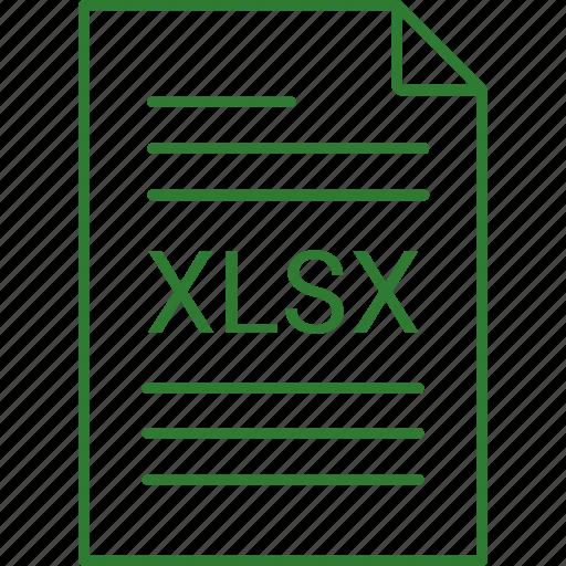 extension, file, xlsx icon