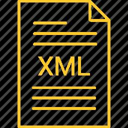 extension, file, xml icon