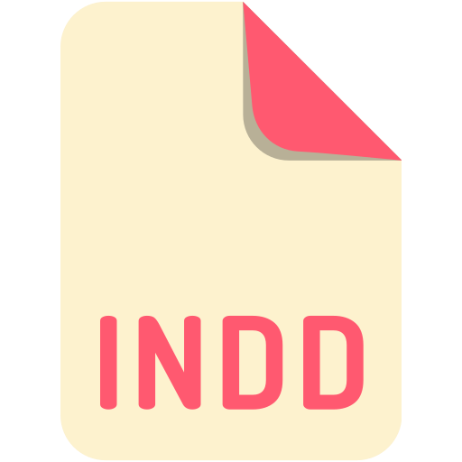 extension, file, indd, name icon