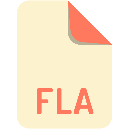 extension, file, fla, name icon
