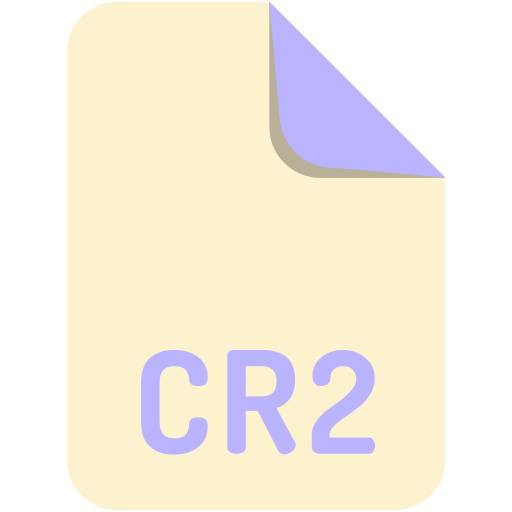 cr2, extension, file, name icon