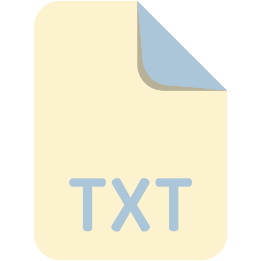 extension, file, name, txt icon