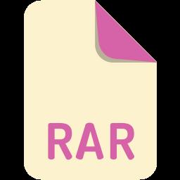 extension, file, name, rar icon