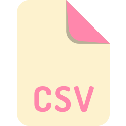 cvs, extension, file, name icon