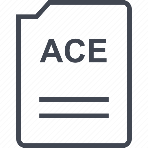 ace, doc, document, page icon