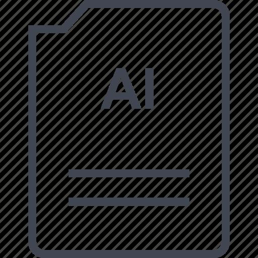 ai file, doc, document, illustrator, page icon