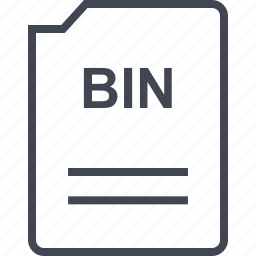 bin, doc, document, page icon