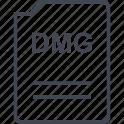 dmg, doc, document, page icon