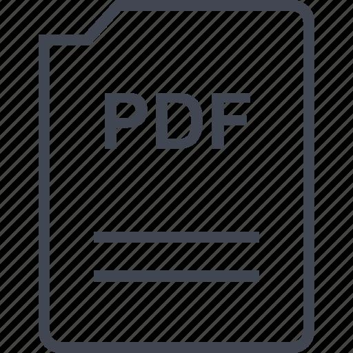 doc, document, page, pdf icon